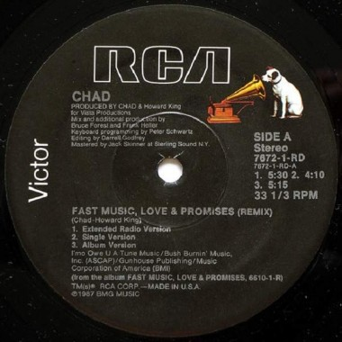 "CHAD ""FAST MUSIC, LOVE & PROMISES (REMIX)"" (12"")"